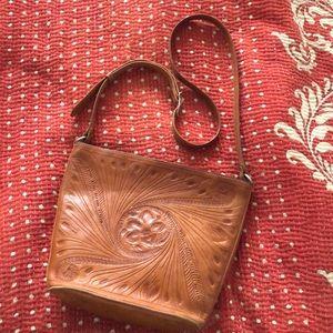 Vintage hand-tooled purse